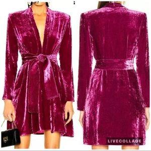 A.L.C. Kiera crushed velvet mini dress